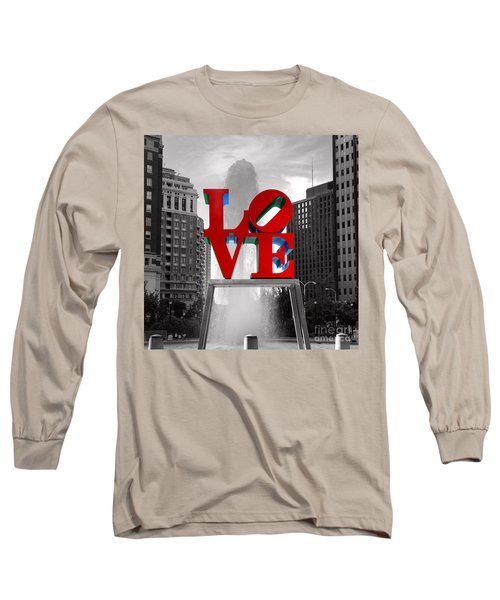 Love Is Always Black And White Square Long Sleeve T-Shirt