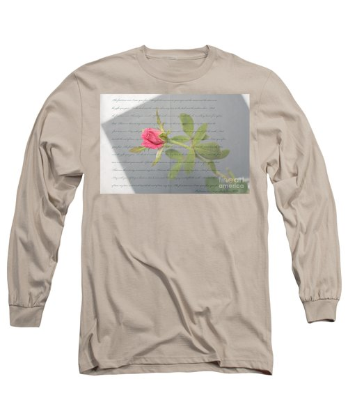 Love Letter Lyrics And Rose Long Sleeve T-Shirt
