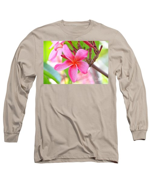 Long Sleeve T-Shirt featuring the photograph Lovely Plumeria by David Lawson
