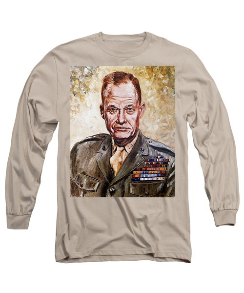 Lt Gen Lewis Puller Long Sleeve T-Shirt by Mountain Dreams