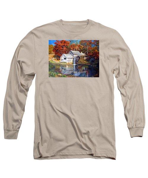 Mabry Mill Blue Ridge Virginia Long Sleeve T-Shirt