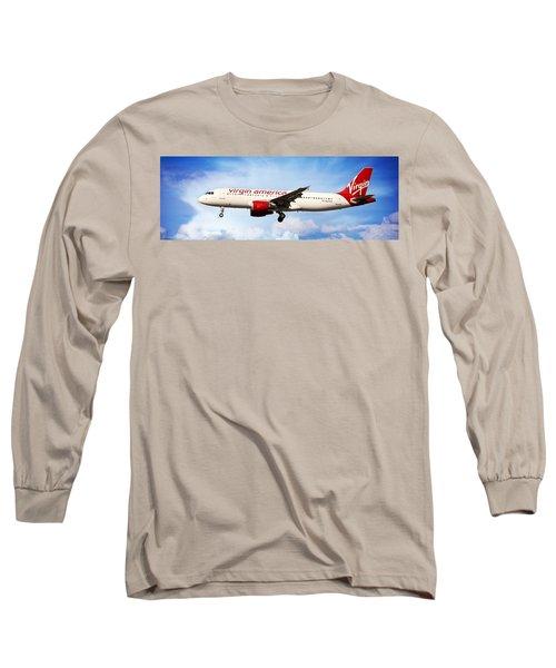 Virgin America Mach Daddy - Rare Long Sleeve T-Shirt by Aaron Berg