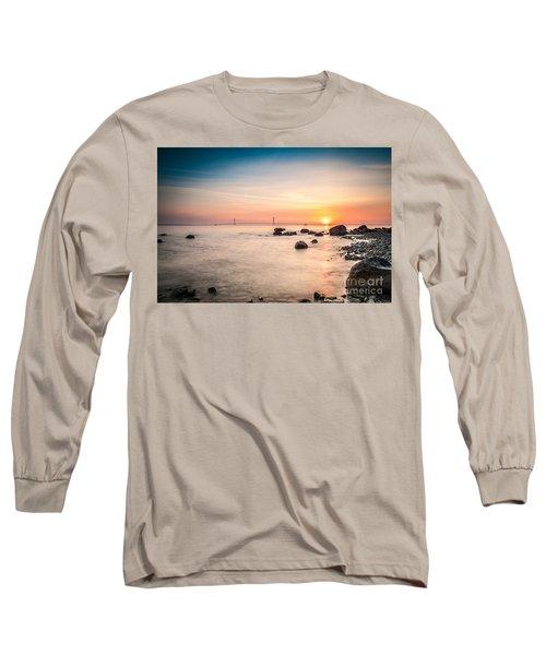 Mackinac Sunrise Long Sleeve T-Shirt by Larry Carr