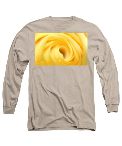 Macro Yellow Rose Long Sleeve T-Shirt