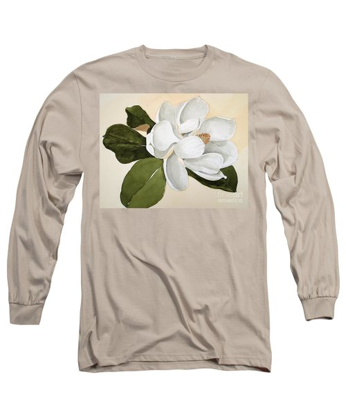 Magnolia Bloom Long Sleeve T-Shirt by Nancy Kane Chapman