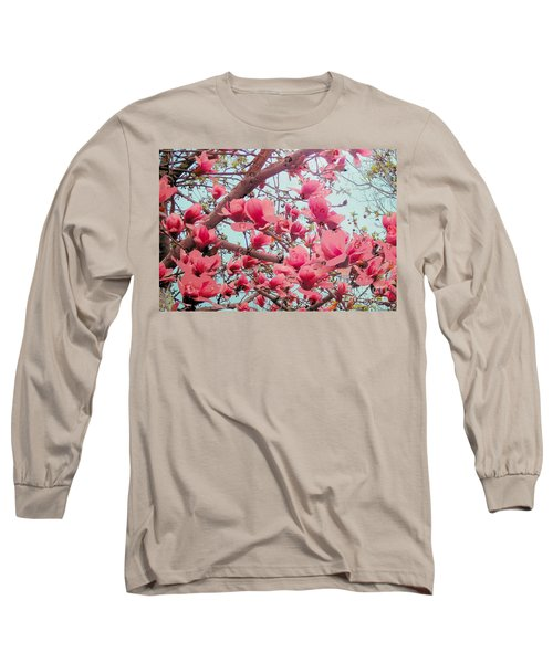 Magnolia Blossoms In Spring Long Sleeve T-Shirt
