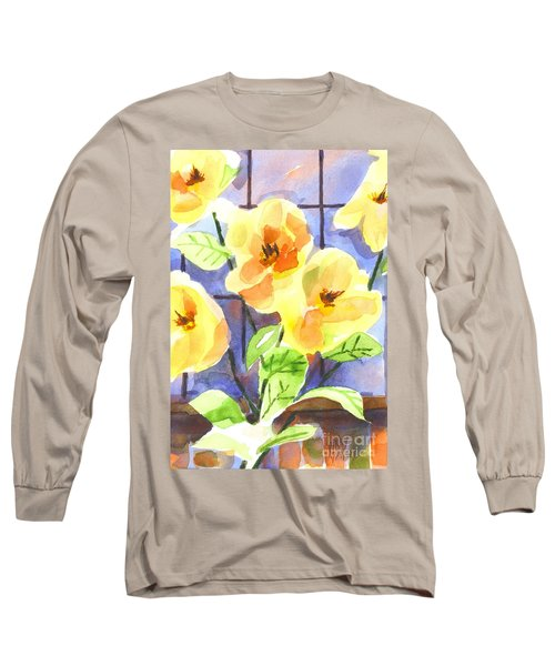Long Sleeve T-Shirt featuring the painting Magnolias by Kip DeVore