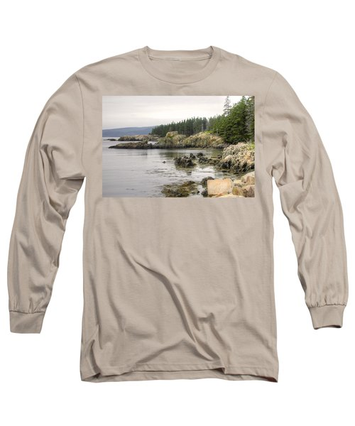 Maine's Beautiful Rocky Shore Long Sleeve T-Shirt