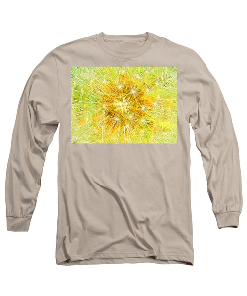 Make A Wish In Greenish Yellow Long Sleeve T-Shirt