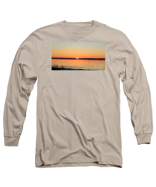 Mallards At Sunrise Long Sleeve T-Shirt by David Jackson