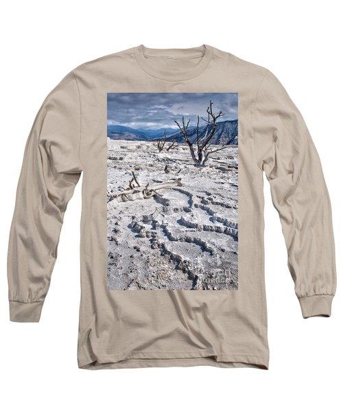 Mammoth Terraces Vertical Long Sleeve T-Shirt