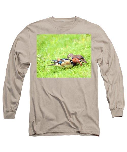 Mandarin Duck Couple Long Sleeve T-Shirt