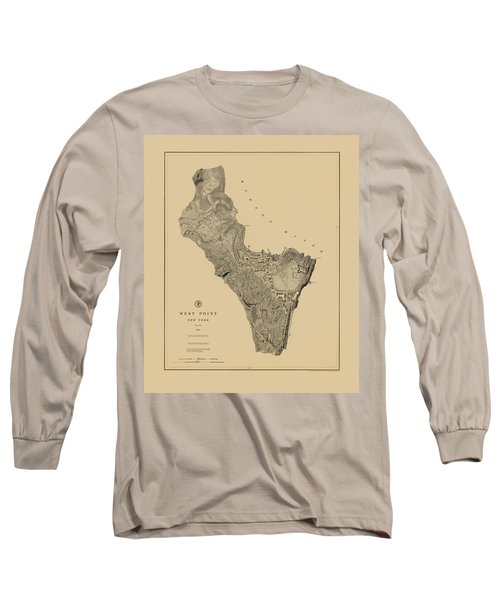 Map Of West Point 1883 Long Sleeve T-Shirt