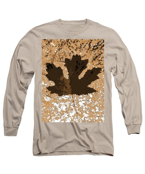 Maple Leaf Brown  Hues Long Sleeve T-Shirt