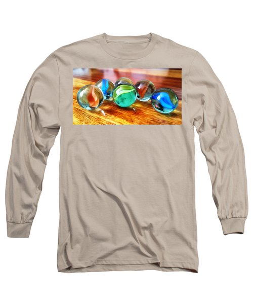 Long Sleeve T-Shirt featuring the photograph Marble Ducks by Isabella F Abbie Shores FRSA