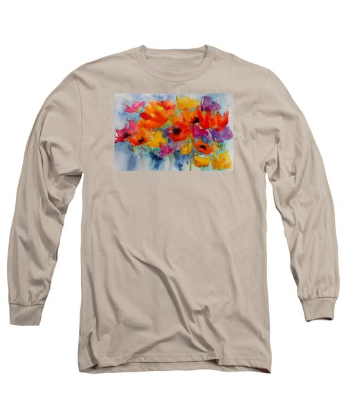 Long Sleeve T-Shirt featuring the painting Marianne's Garden by Anne Duke