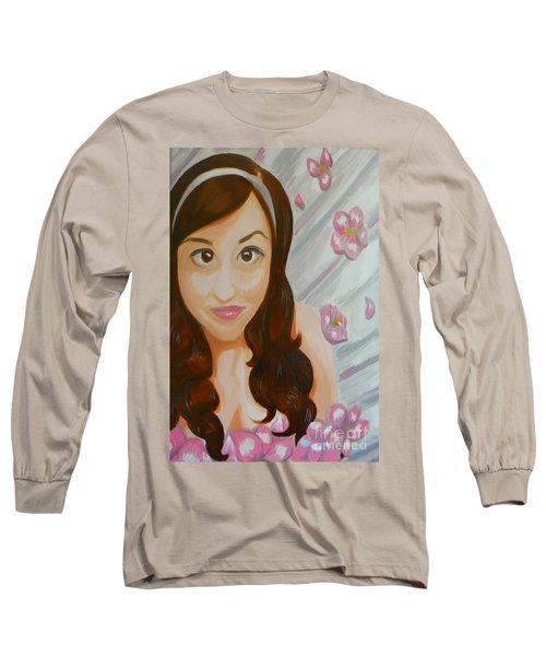 Long Sleeve T-Shirt featuring the painting Marisela by Marisela Mungia