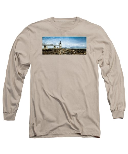 Marshall Point Lighthouse Panoramic Long Sleeve T-Shirt