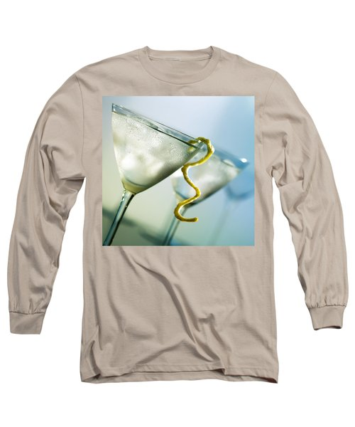 Martini With Lemon Peel Long Sleeve T-Shirt