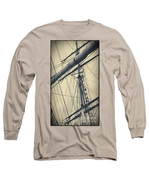 Mast And Rigging Postcard Long Sleeve T-Shirt