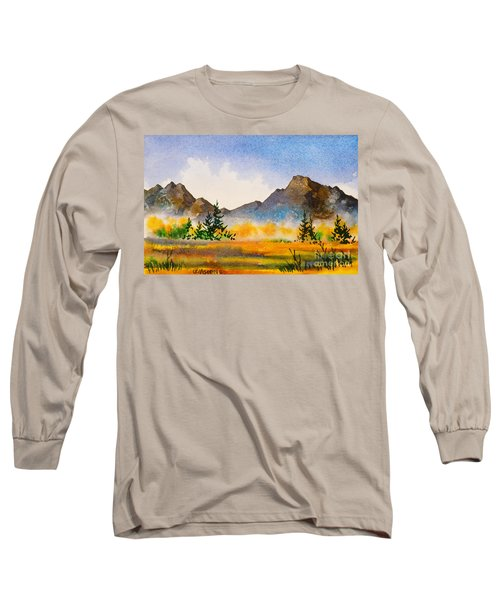 Long Sleeve T-Shirt featuring the painting Matanuska Autumn by Teresa Ascone
