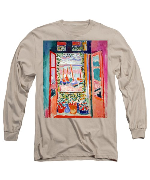 Matisse's Open Window At Collioure Long Sleeve T-Shirt by Cora Wandel
