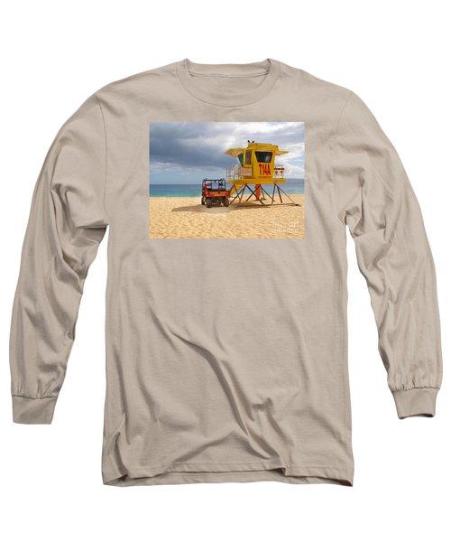 Maui Lifeguard Tower Long Sleeve T-Shirt