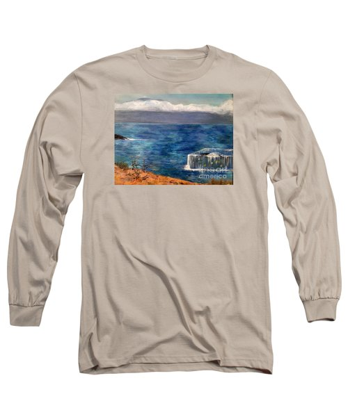 Long Sleeve T-Shirt featuring the painting Frida Goes To Maui by Vanessa Palomino