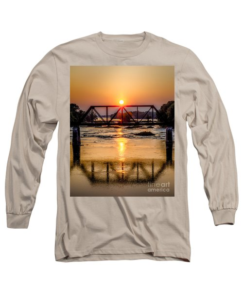 Maumee River At Grand Rapids Ohio Long Sleeve T-Shirt