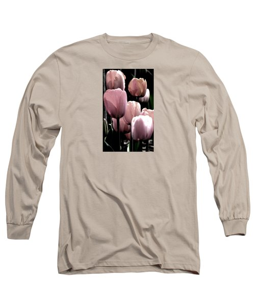 Mauve In The Morning Long Sleeve T-Shirt by Angela Davies