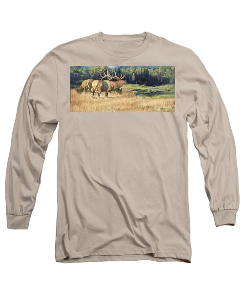Long Sleeve T-Shirt featuring the painting Meadow Music by Rob Corsetti