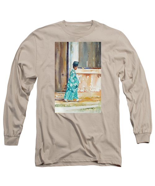 Meditation  Long Sleeve T-Shirt by Mary Haley-Rocks