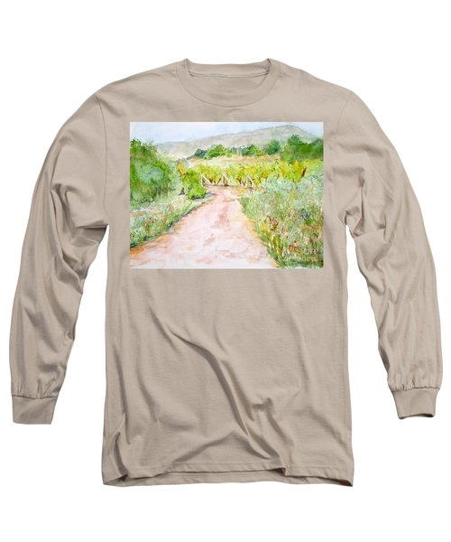 Medjugorje Path To Apparition Hill Long Sleeve T-Shirt by Vicki  Housel