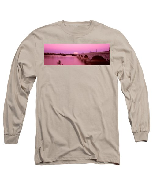 Memorial Bridge, Washington Dc Long Sleeve T-Shirt by Panoramic Images