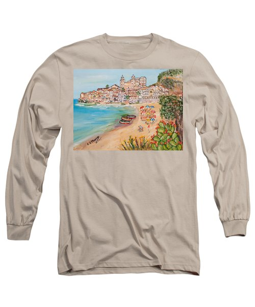 Long Sleeve T-Shirt featuring the painting Memorie D'estate by Loredana Messina