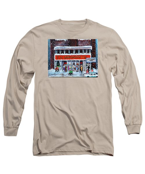 Memories Of Winter At Woolworth's Long Sleeve T-Shirt by Rita Brown