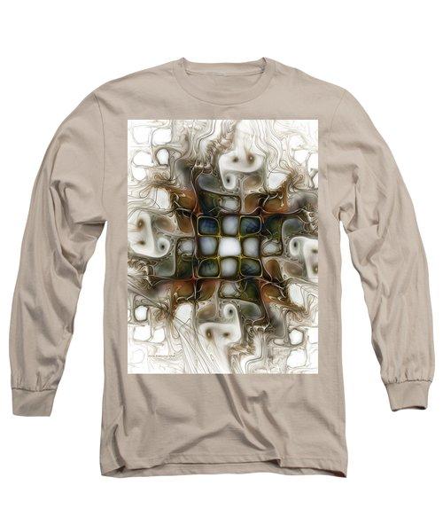 Memory Boxes-fractal Art Long Sleeve T-Shirt by Karin Kuhlmann