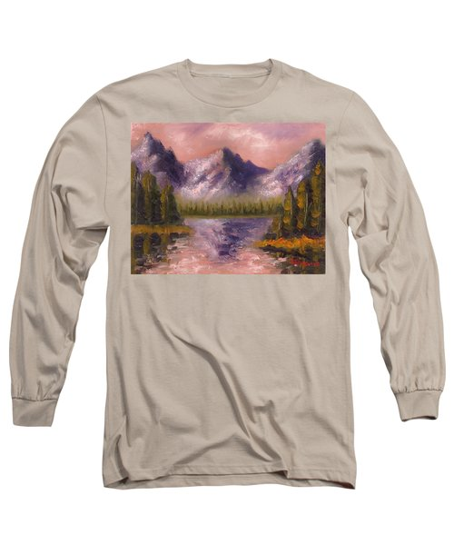 Long Sleeve T-Shirt featuring the painting Mental Mountain by Jason Williamson
