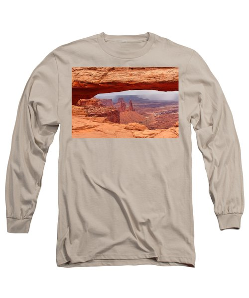 Long Sleeve T-Shirt featuring the photograph Mesa Arch In Canyonlands National Park by Mitchell R Grosky