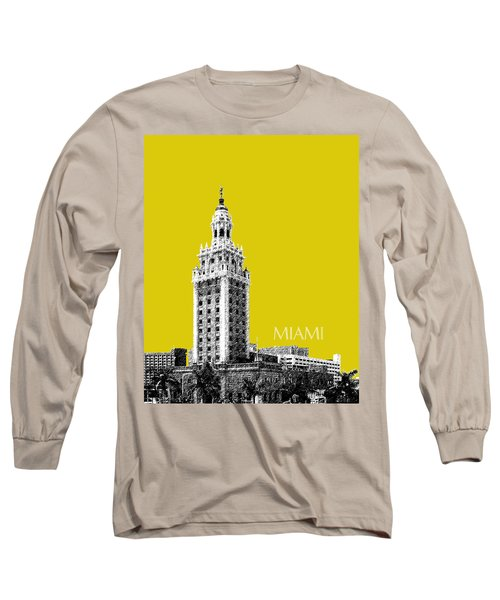 Miami Skyline Freedom Tower - Mustard Long Sleeve T-Shirt