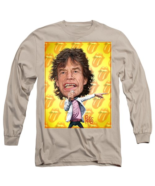 Mick Jagger Long Sleeve T-Shirt