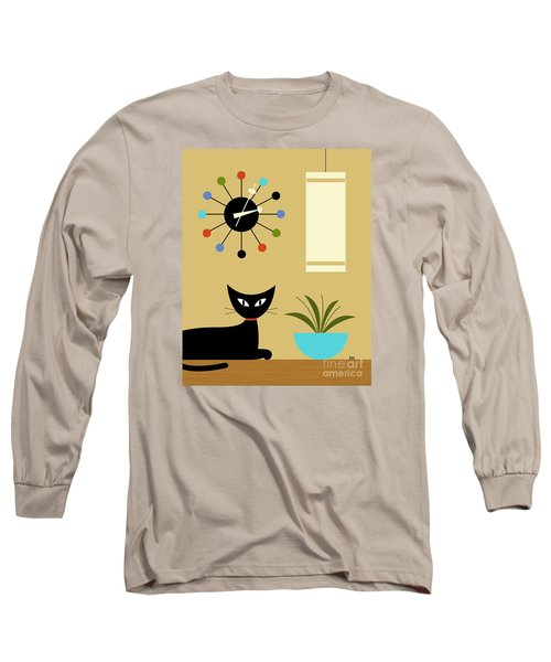Mid Century Ball Clock 2 Long Sleeve T-Shirt