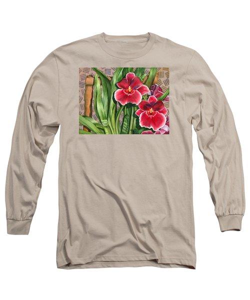 Miltonia Orchids Long Sleeve T-Shirt by Lynda Hoffman-Snodgrass