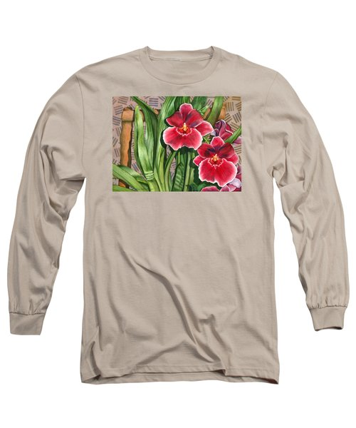 Miltonia Orchids Long Sleeve T-Shirt