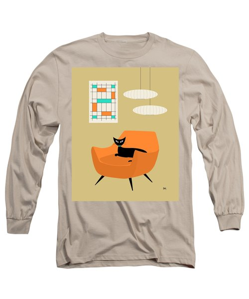 Mini Abstract With Orange Chair Long Sleeve T-Shirt