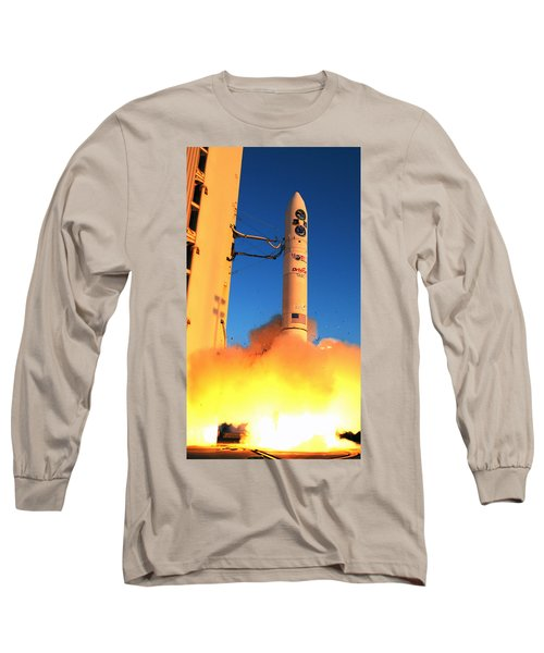 Minotaur Iv Rocket Launches Falconsat-5 Long Sleeve T-Shirt by Science Source