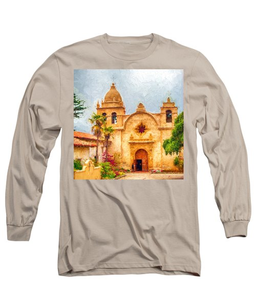 Mission San Carlos Borromeo De Carmelo Impasto Style Long Sleeve T-Shirt