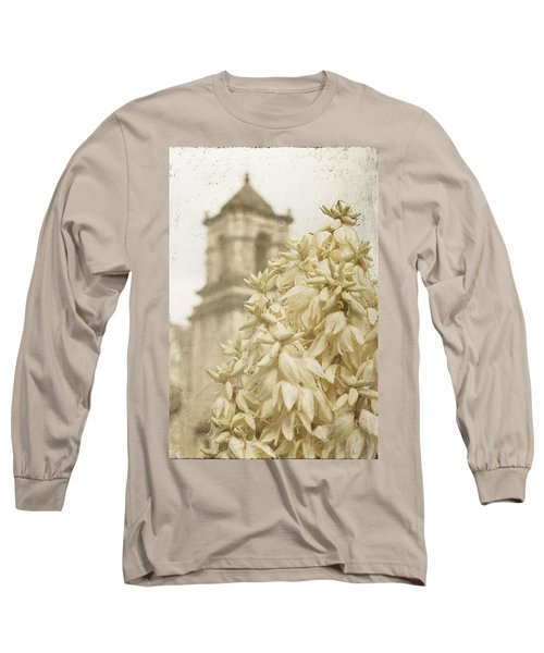 Mission San Jose And Blooming Yucca Long Sleeve T-Shirt