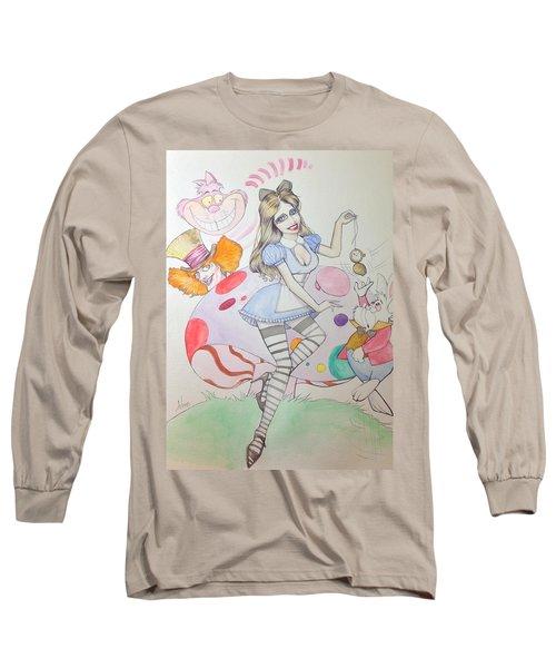 Misty Kay In Wonderland Long Sleeve T-Shirt by Jimmy Adams