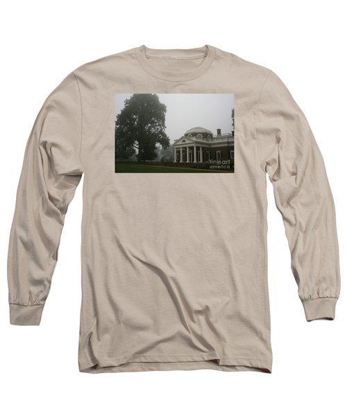 Misty Morning At Monticello Long Sleeve T-Shirt by Christiane Schulze Art And Photography